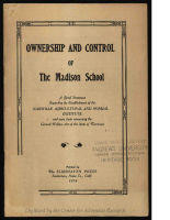 Ownership and Control of the Madison School – PDF (5.8 MB)