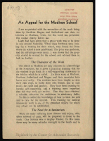 An Appeal for the Madison School – PDF (1.44 MB)