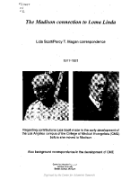 The Madison Connection to Loma Linda, Vol. 1